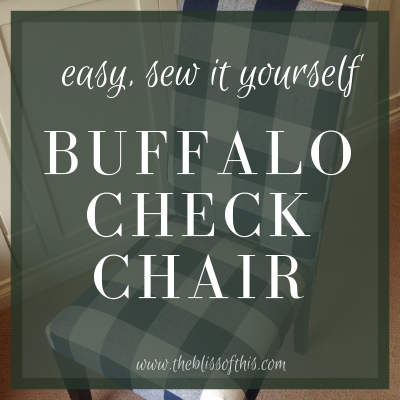 Brilliant Diy Buffalo Check Chair The Bliss Of This Gmtry Best Dining Table And Chair Ideas Images Gmtryco