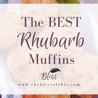 The BEST Rhubarb Muffins