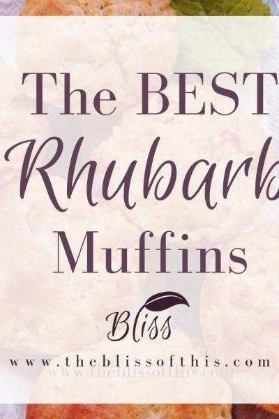 The BEST Rhubarb Muffins