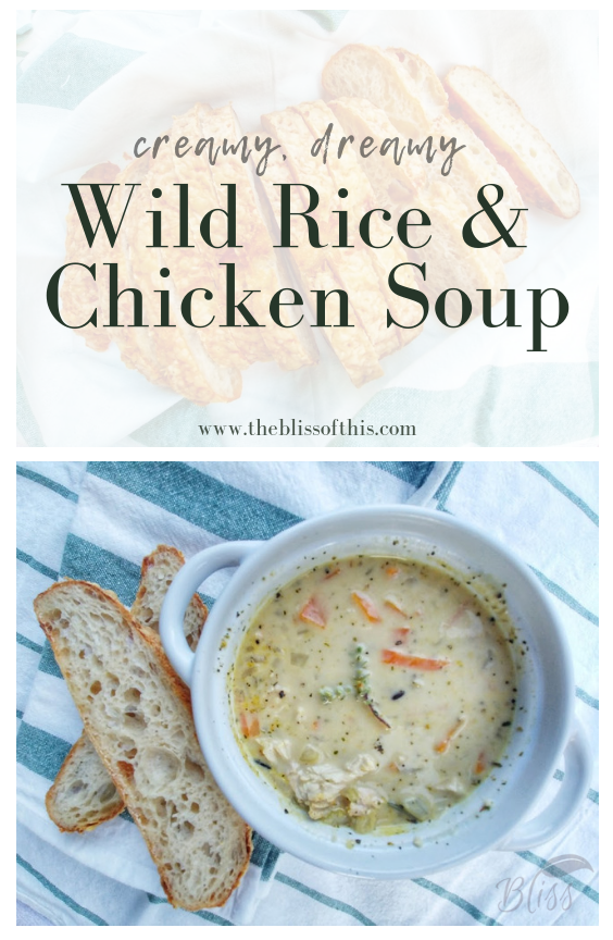 Wild Rice and Chicken soup http://theblissofthis.com/hearty-wild-rice-and-chicken-soup/