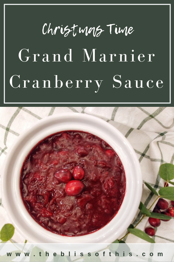 Cranberry sauce Grand marnier