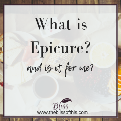 What is Epicure www.theblissofthis.com