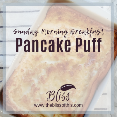 Breakfast Pancake Puff