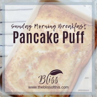 Breakfast Pancake Puff